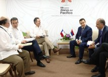 Dacic (R) is seen during the meeting with Roberto Ampuero (Tanjug)