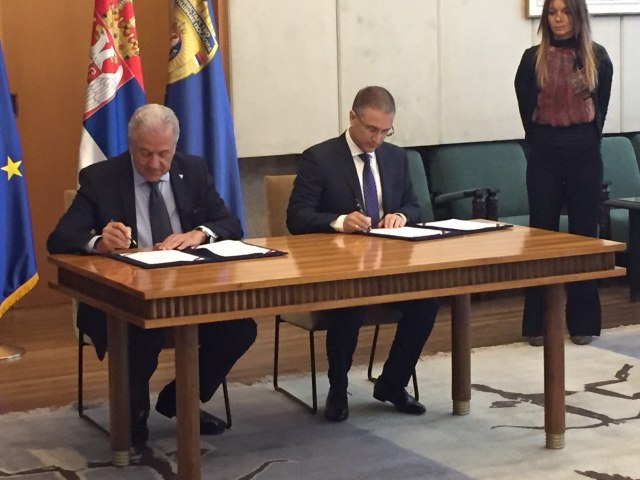 Stefanović potpisao sporazum o Fronteksu