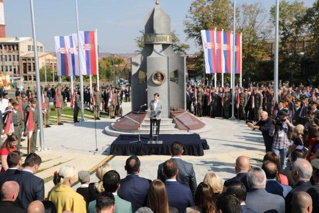 Otkriven Spomenik Gvozdenom Puku U Prokuplju Foto Video B92 Net