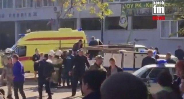 Snimak napada na školu na Krimu objavljen pa uklonjen