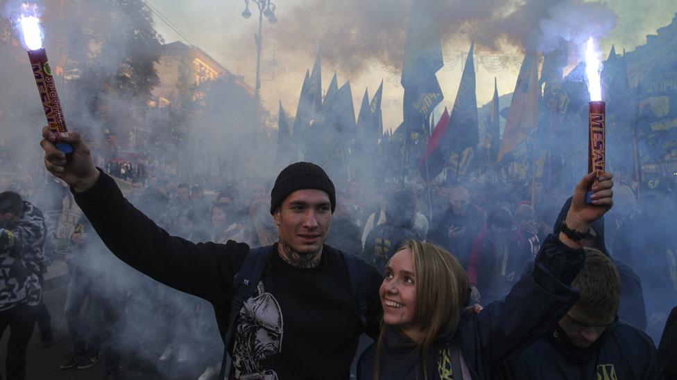 Nacionalisti su vodili mitinge u Kijevu/Getty Images