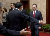 Gruevski (R) is seen in this file photo (Getty Images)