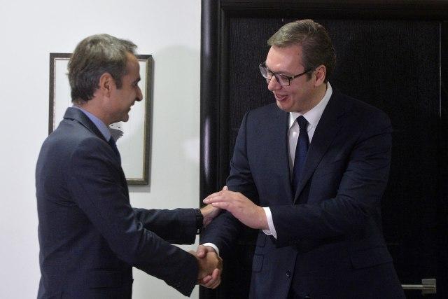 Počeo sastanak Vučić - Micotakis