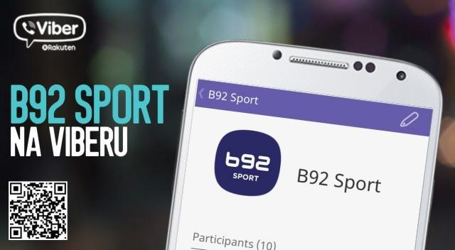 """Pratite B92 Sport i na """"Vajberu"""""""