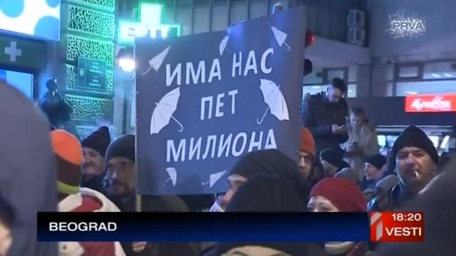 """BG: Počeo šesti protest """"Jedan od pet miliona"""""""