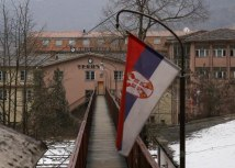 The Serbian flag is seen at the entrance to the Trepca complex in northern Kosovo (Tanjug, file, illustration)