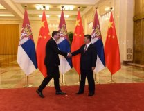 Vucic and Xi are seen during a previous meetin in China (Tanjug, file)