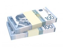 Serbian 100 dinar (RSD) notes (Thinkstock)