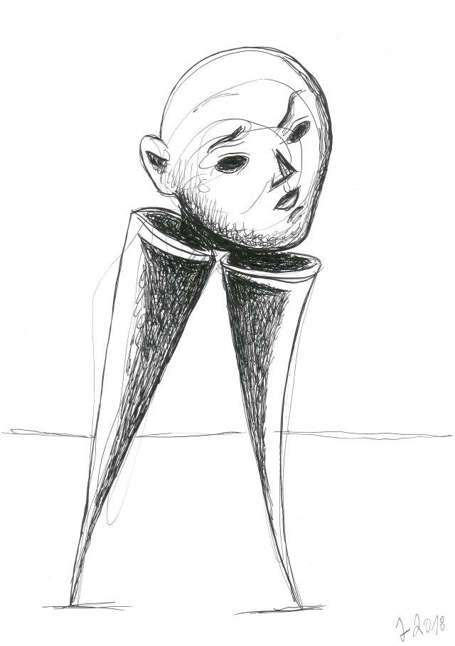 Crteži Jovana Marinkovića u Srećnoj galeriji SKC-a