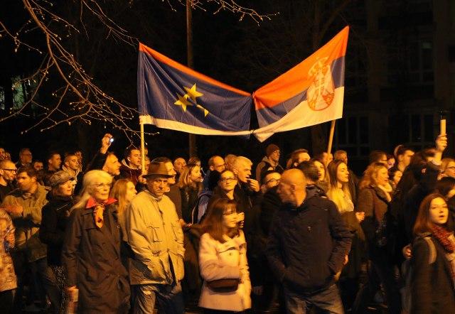 """Protest """"Jedan od pet miliona"""" u Novom Sadu, Kruševcu"""
