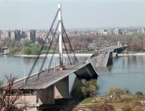 A bridge in Novi Sad destroyed by NATO in 1999 (EPA, file)