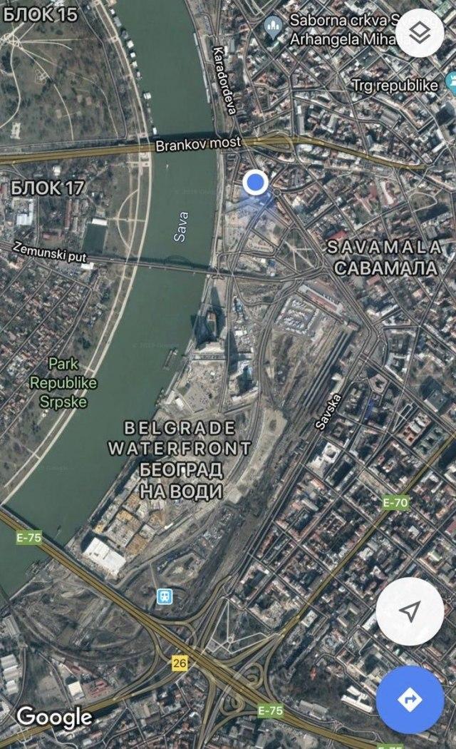 Snimak Iz Satelita Vidljiv U Celom Svetu Beograd Na Vodi Na