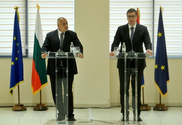 Borisov and Vucic are seen during a previous meeting (Tanjug, file)