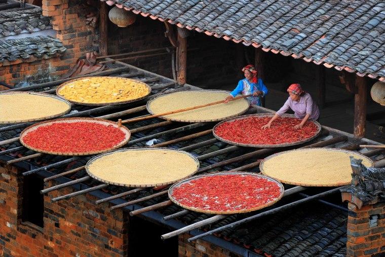 Tradicionalno sušenje paprika u  Đijangsiju / Foto: Depositphotos / Imaginechina