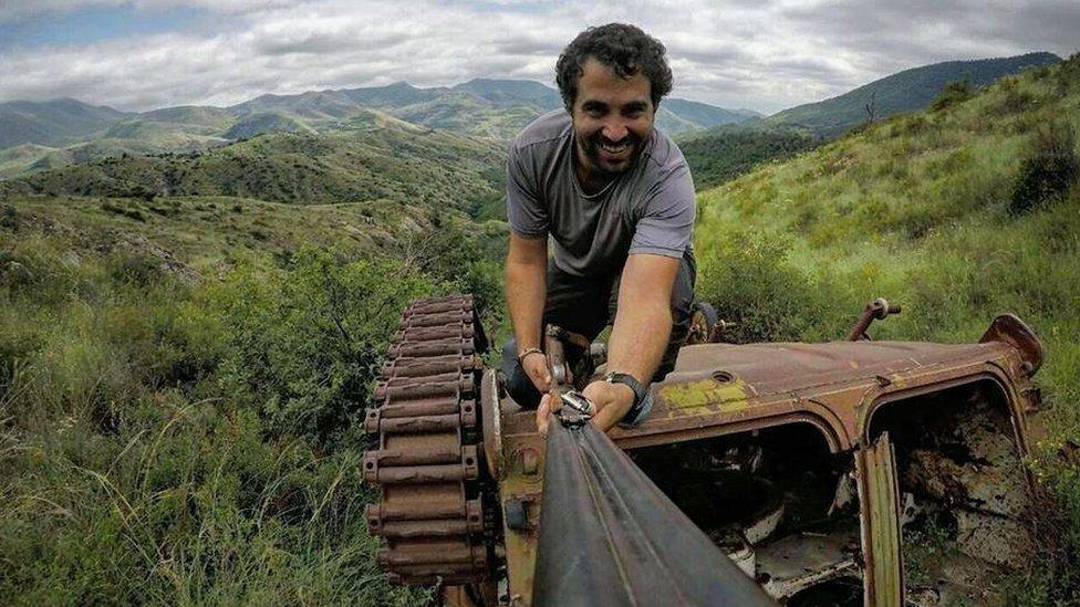 Gilad Sade na jednom od svojim putovanja/Gilad Sade