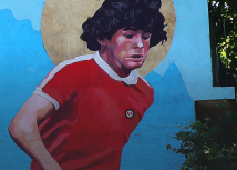 Maradonin mural ispred stadiona/Getty Images