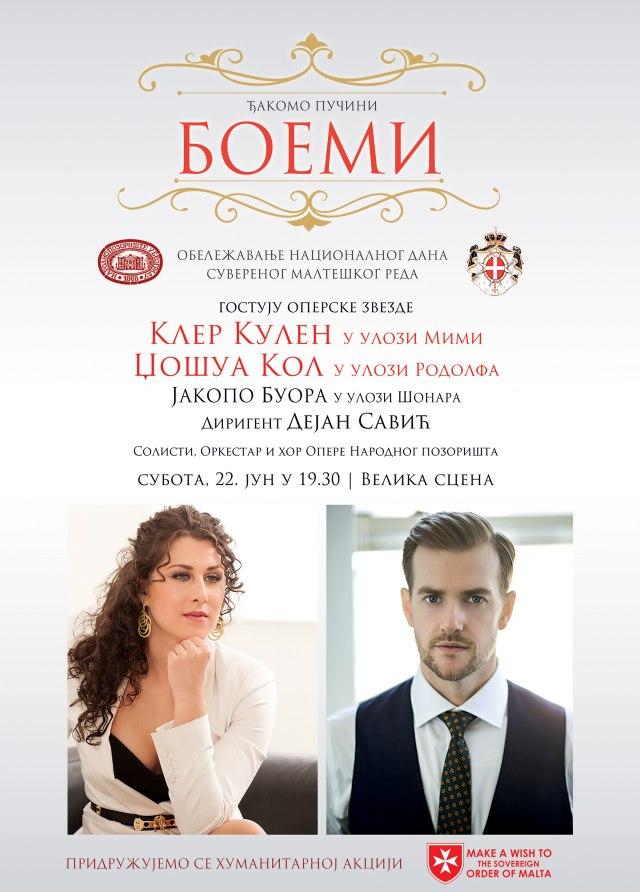 """""""Boemi"""" u Narodnom pozorištu sa gostima iz Кanade, Amerike i Italije"""