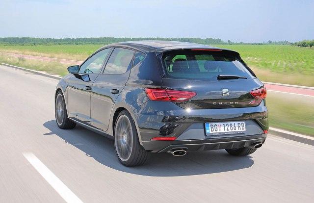 Seat Leon Cupra: zapremina 1984 ccm;  213 kW (290 KS) pri 5400-6500 o/min; maks. o. mom. 380 Nm pri 1950-5300 o/min