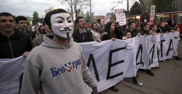 """Završen protest """"1 od 5 miliona"""" u Beogradu"""