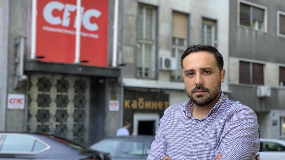 Uglješa Marković je na čelu Socijalističke omladine Srbije od 2017. godine/BBC