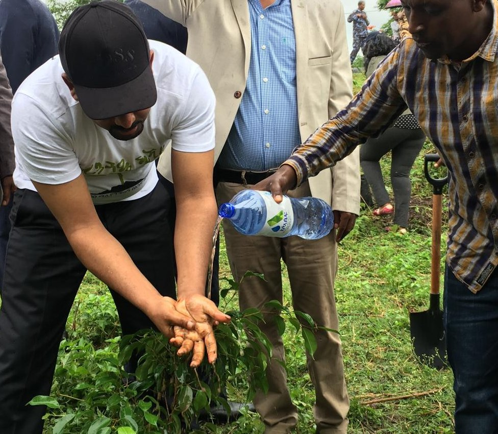 Premijer Abij predvodi akciju sađenja/BBC