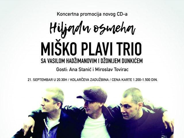 Miško Plavi Trio ponovo na daskama Kolarčeve zadužbine