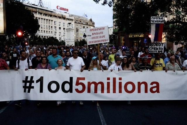 "Protest ""1 od 5 miliona"" u Beogradu"