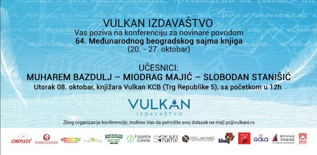 Vulkan izdavaštvo na 64. Međunarodnom beogradskom sajmu knjiga
