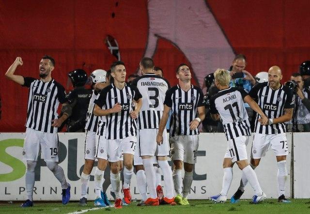 Uživo: Partizan poveo u finišu prvog poluvremena