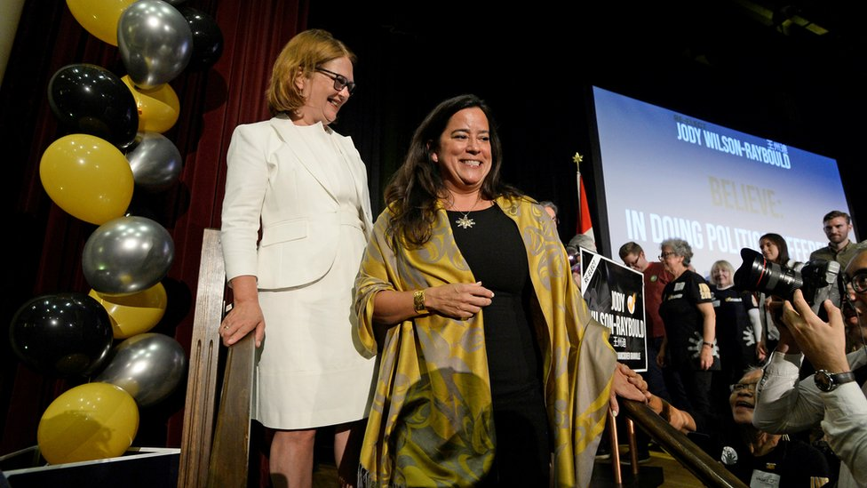 Independent candidates Jane Philpott (L) and Jody Wilson-Raybould (R)/Reuters