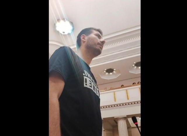 """""""Parlament ne znači ludačko ponašanje"""": Pernar opet izbačen VIDEO"""