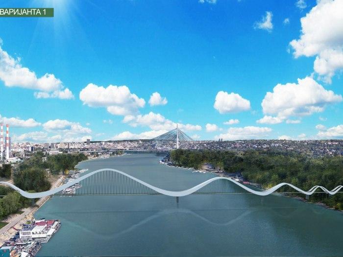 Stari Savski Most U Parku Usce Ili Na Reci Između Novog Beograda