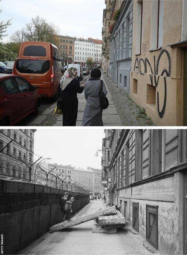 Berlinski zid - nekad i sad/Getty Images
