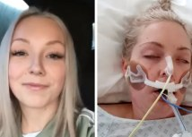 When Stacey reached the hospital, she found her sister Lucy (pictured) unrecognisable/Family handout
