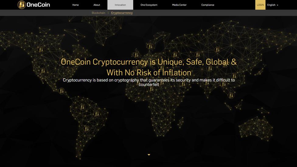Stranica na internet strani VanKoina/OneCoin