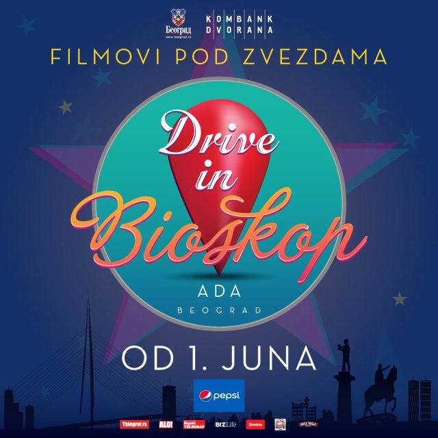 "Od 1. juna ""Drive in bioskop"" na Adi Ciganliji"