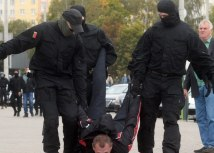 Activists say at least 50 people were detained by police on Sunday/EPA