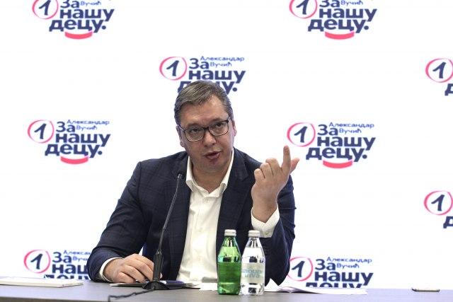 """VUČIĆ NA KONFERENCIJI ZA MEDIJE: """"Parlamentarni izbori zajedno sa predsjedničkim bit će održani najkasnije do 3. aprila 2022."""""""