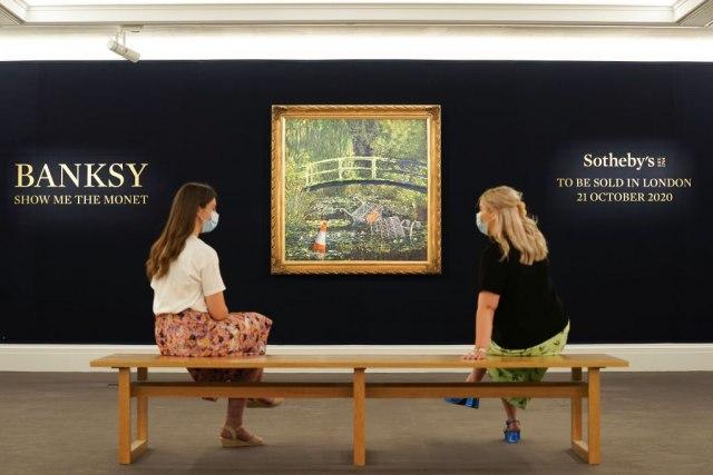 "Benksijeva slika ""Pokaži mi Monea"" prodata za gotovo 10 miliona dolara"