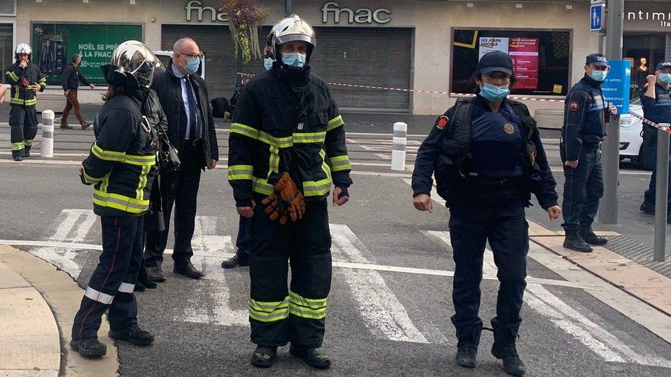 Područje oko bazilike policija je odmah zatvorila/Christian Estrosi