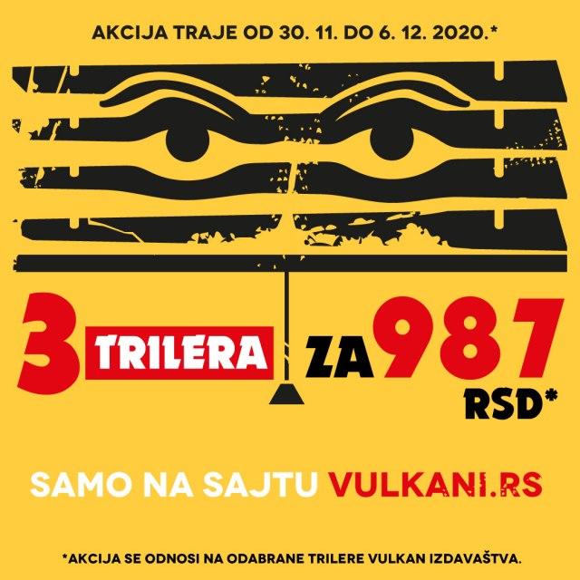 Odabrani trileri Vulkan izdavaštva po neverovatnoj ceni: 3 za 987 dinara