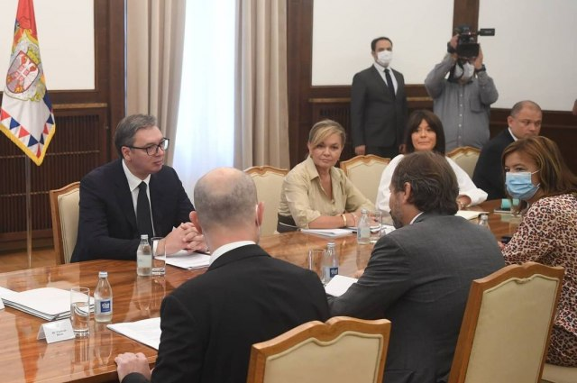 U toku sastanak Vučića sa posrednicima EP FOTO