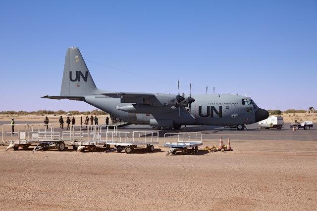 Avion UN na meti etiopske avijacije
